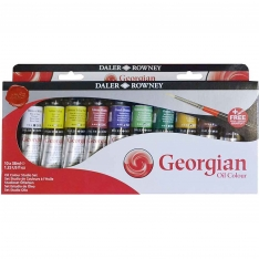Laurence Mathews Daler Rowney Set of 10 38ml Tubes of Georgian oils
