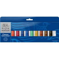 Laurence Mathews Cotman Watercolour 12 8ml Tube Set